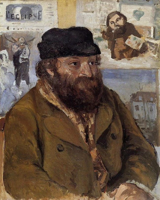 Portrait of Paul Cezanne, 1874 by Camille Pissarro