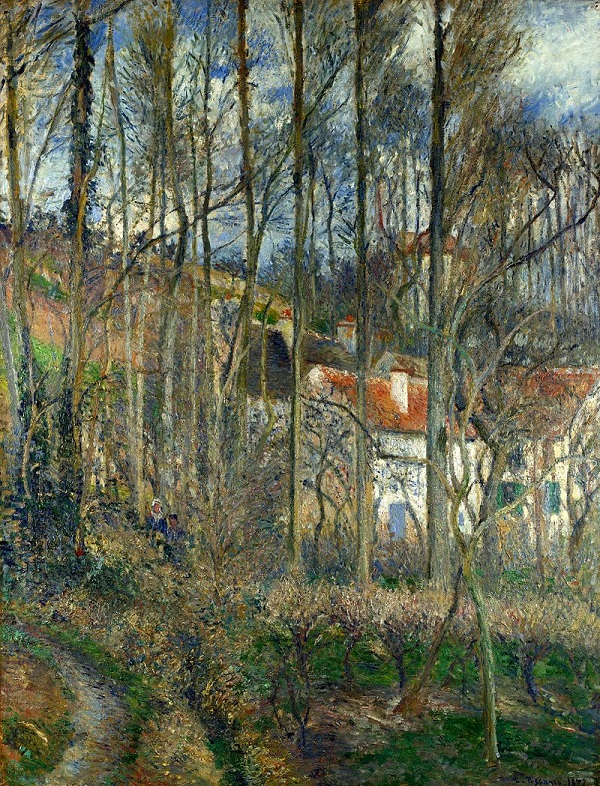 The Cote des Boufs at L'Hermitage, 1877 by Camille Pissarro