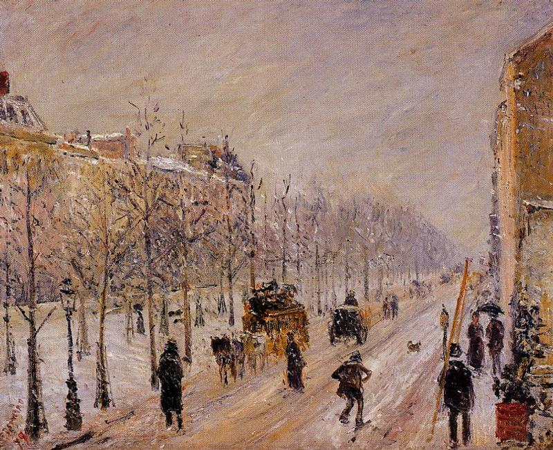 The Outer Boulevards, Snow, 1879 by Camille Pissarro