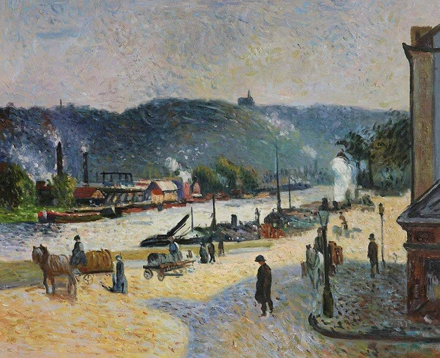 The Quays at Rouen, 1883 by Camille Pissarro